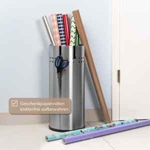 bremermann Schirmständer, Regenschirmständer, Edelstahl matt
