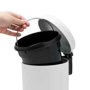 bremermann Kosmetikeimer RIALTO 2,8 Liter, Treteimer Badeimer Mülleimer, weiß