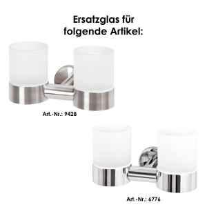 bremermann Bad-Serie PIAZZA & LUCENTE - Ersatz-Glasbecher 2er Set