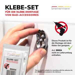 bremermann Bad-Serie PIAZZA - Toilettenpapierhalter 2 in 1, Edelstahl matt